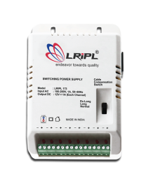 LRIPL CCTV Power Supply with 8 Channel (Output Voltage 12V each channel,Output Current 1Amp each channel)(White)