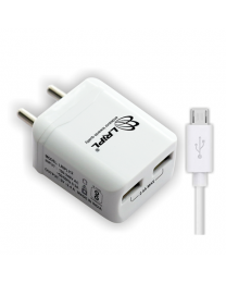 LRIPL Mobile Charger 5V 2.4Amp with DC Pin (USB2.0) (White)