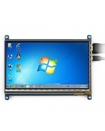 Waveshare 7 Inch 1024x600 Capacitive Touch Screen LCD Display With HDMI Interface For Raspberry Pi