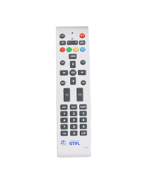 GTPL STB (SET TOP BOX) REPLACEMENT REMOTE CONTROL by LRIPL (Milky White)